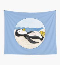Sunning Penguin Wall Tapestry