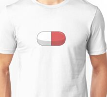 Pill - Red and white Unisex T-Shirt