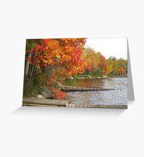 muskoka docks Greeting Card