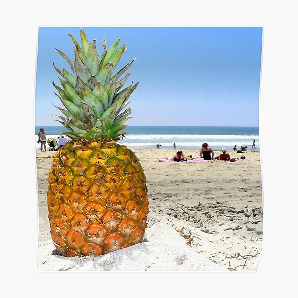 Homesick Pineapple On The Beach Poster
