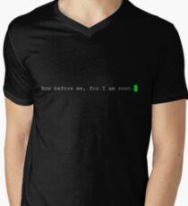 Bow Before Me Men's V-Neck T-Shirt