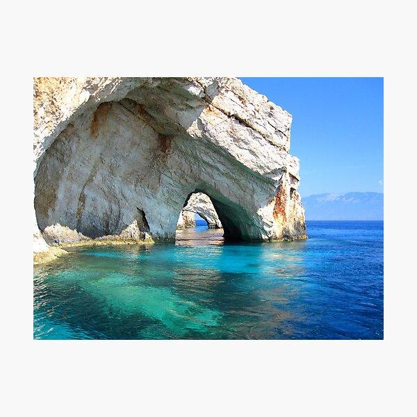 Blue Arches - Zante, Greece Photographic Print