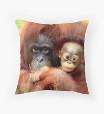 Bornean orangutan  Throw Pillow