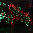 Red and Green Moving Lights by MovingInColor