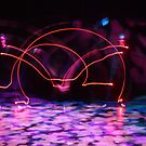 A Cartwheel in Lights by MovingInColor