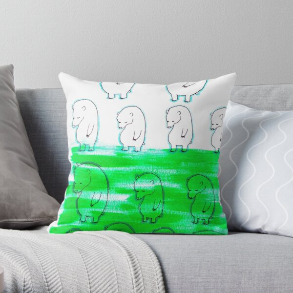 Moody Bears Throw Pillow