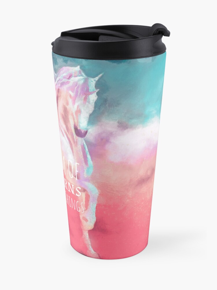 Alternate view of I Dream of Unicorns & Magical Things Travel Mug