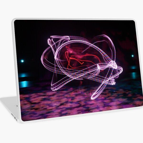 Pink moving lights  Laptop Skin