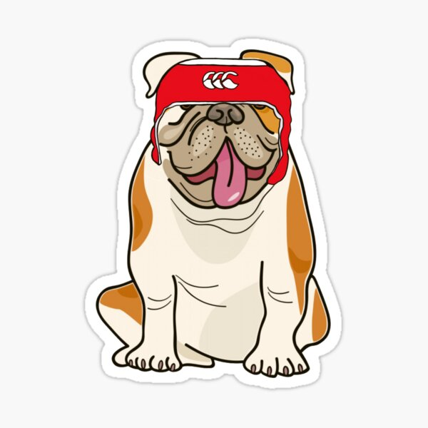 Bulldog de rugby Pegatina