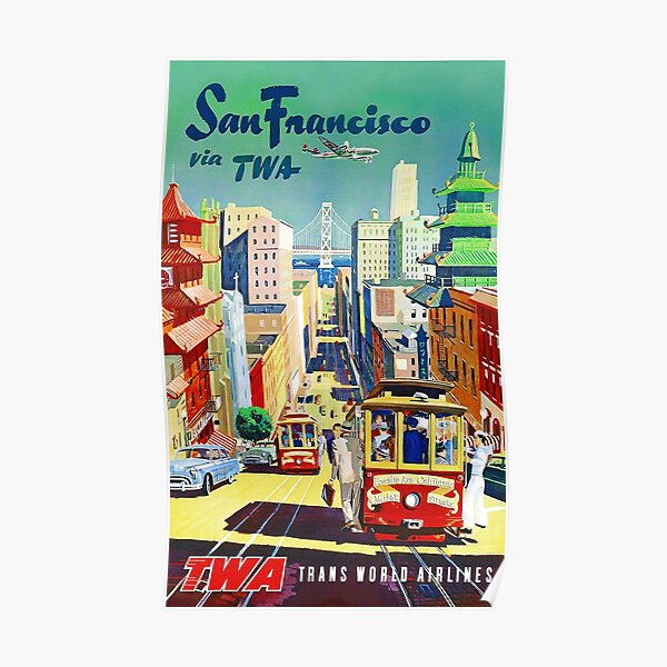 San Francisco Travel Poster Poster