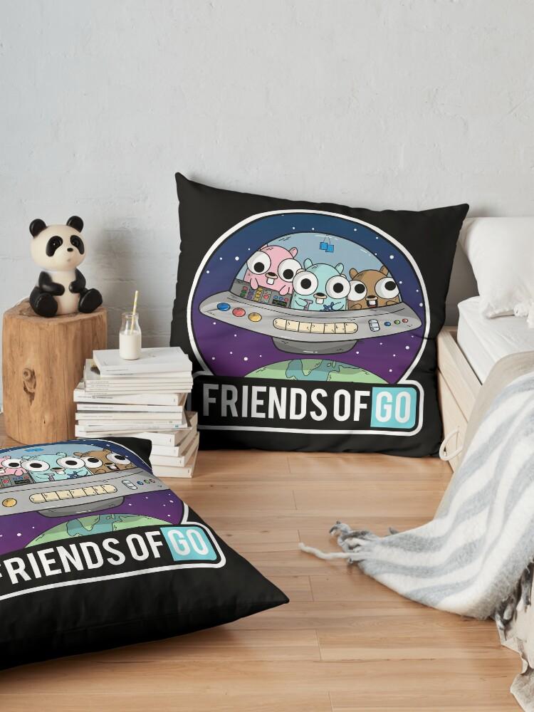 Vista alternativa de Cojines de suelo Friends of Go