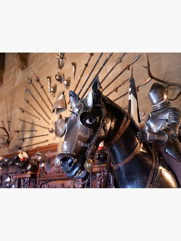 Medieval armour of the horse at Warwick Castle  by santoshputhran