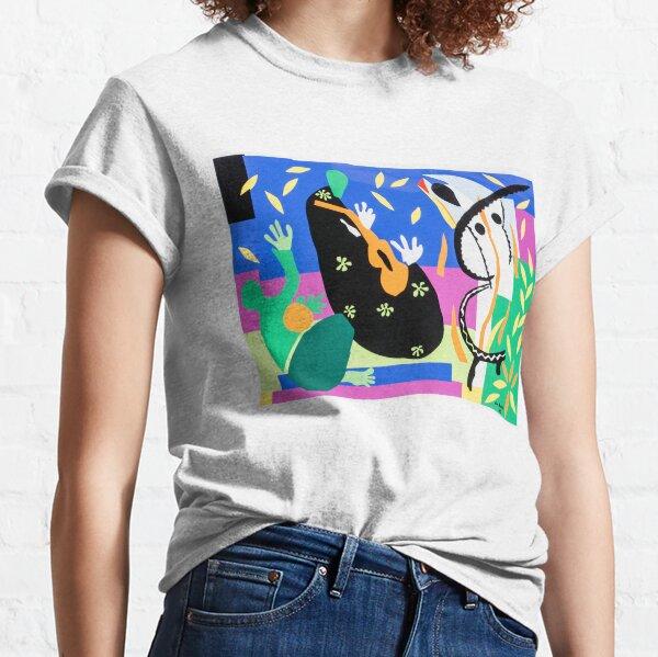 le fond n'est plus qu'un motif T-shirt classique