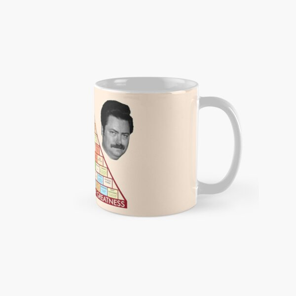 Ron Swanson's Pyramid Of Greatness Classic Mug