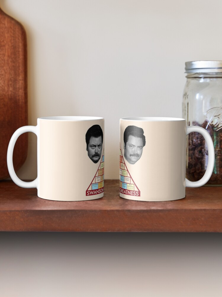 Alternate view of Ron Swanson's Pyramid Of Greatness Mug