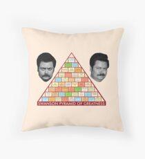 Ron Swansons Pyramide der Größe Dekokissen