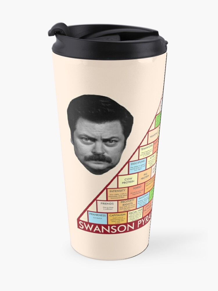 Alternate view of Ron Swanson's Pyramid Of Greatness Travel Mug
