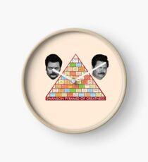 Reloj La pirámide de la grandeza de Ron Swanson