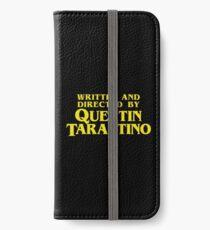 Geschrieben und Regie von Quentin Tarantino iPhone Flip-Case/Hülle/Klebefolie