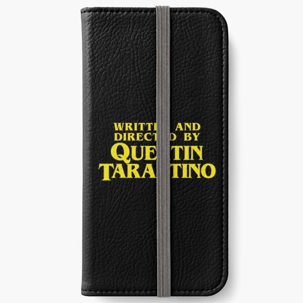 Written and Directed by Quentin Tarantino Fundas tarjetero para iPhone