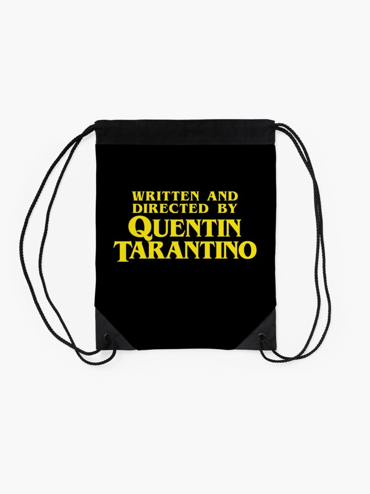 Alternate view of Written and Directed by Quentin Tarantino Drawstring Bag