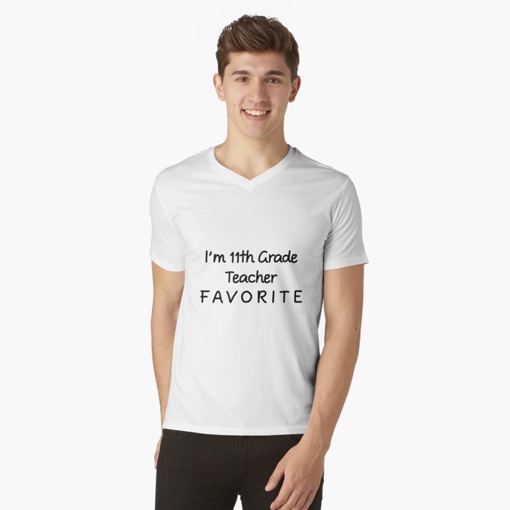 Ich bin 11. Klassenlehrer Favorit 11. Klassenlehrer T-Shirt mit V-Ausschnitt