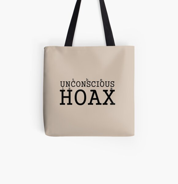 the Unconscious is a HOAX v All Over Print Tote Bag