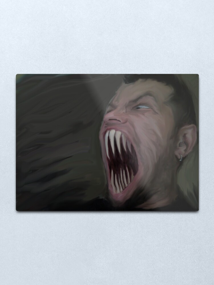 Alternate view of the Scream Metal Print