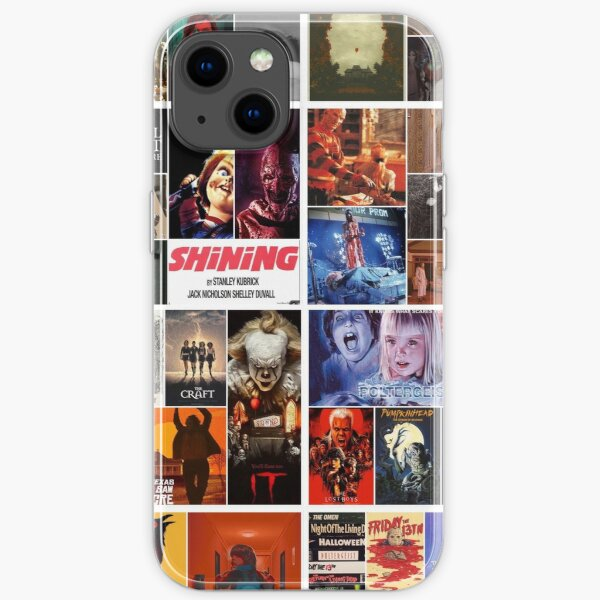 Horror collage iPhone Soft Case