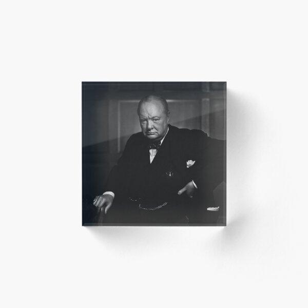 Winston Churchill Portrait - The Roaring Lion - Yousuf Karsh Acrylic Block