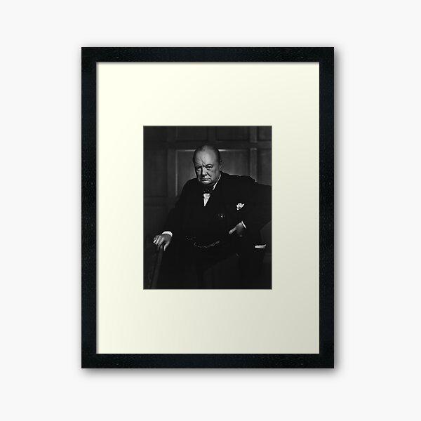 Winston Churchill Portrait - The Roaring Lion - Yousuf Karsh Framed Art Print