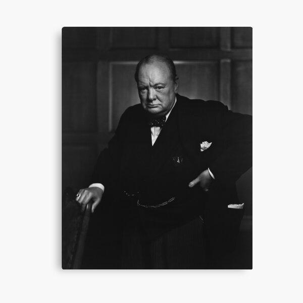 Winston Churchill Portrait - The Roaring Lion - Yousuf Karsh Canvas Print