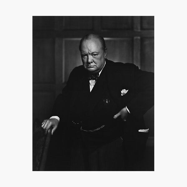 Winston Churchill Portrait - The Roaring Lion - Yousuf Karsh Photographic Print