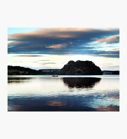 Fishing On Gartmorn Dam, Scotland. Photographic Print