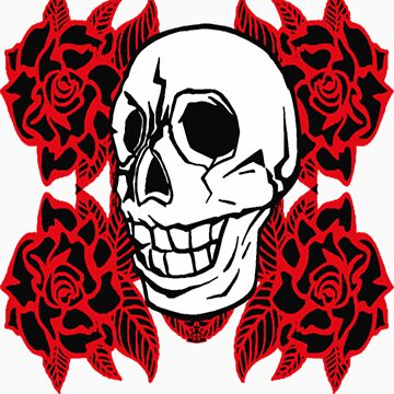 RedRose Skull by ideeawebstudio