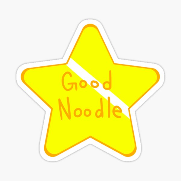 1 Big Good Noodle Award Star Spongebob  Sticker