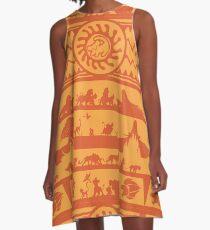 König der Löwen Ugly Sweater A-Linien Kleid