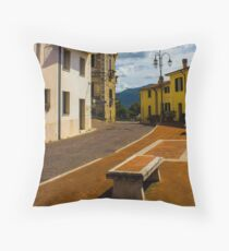 Somewhere in the Old Town Throw Pillow