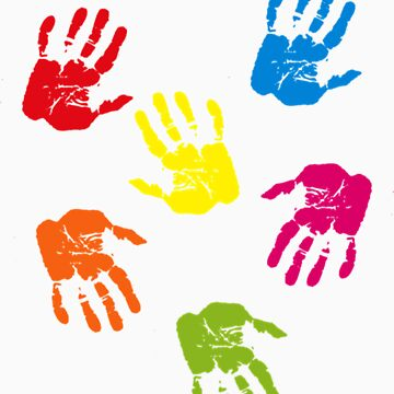 Colourful Hands by ideeawebstudio