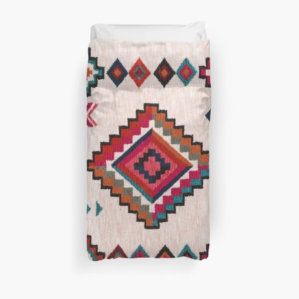 Bohemian Traditional Moroccan Colored Artwork Duvet Cover