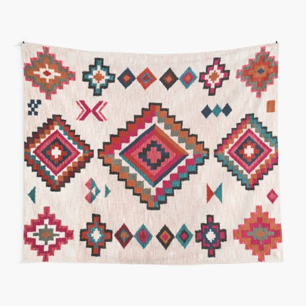 Bohemian Traditional Moroccan Colored Artwork Tapestry