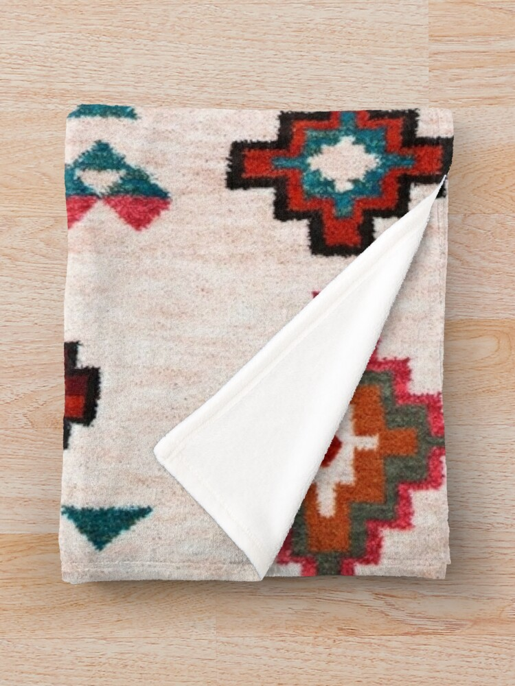 Alternate view of Bohemian Traditional Moroccan Colored Artwork Throw Blanket
