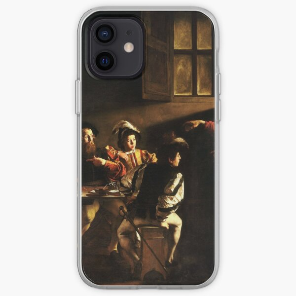The Calling of Saint Matthew, masterpiece, Michelangelo Merisi da Caravaggio, #People, #group, #adult, #art, music, indoors, furniture, painting, flame, men, home interior, light, natural phenomenon iPhone Soft Case
