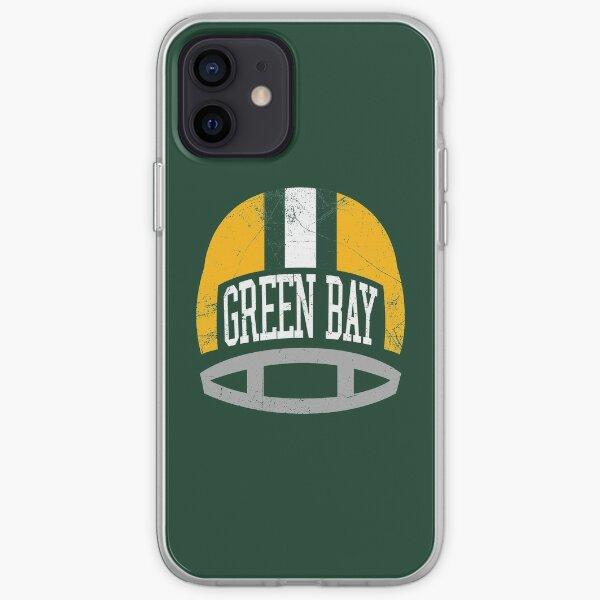 Green Bay Retro Helmet - Green iPhone Soft Case