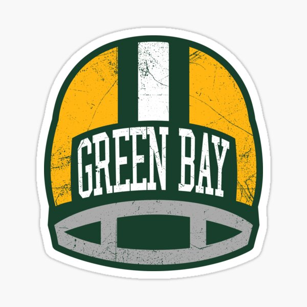 Green Bay Retro Helmet - Green Sticker