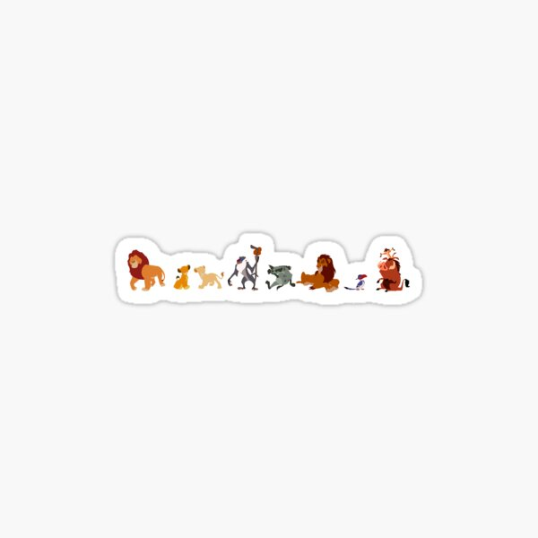 The Lion King Character Illustration  Sticker