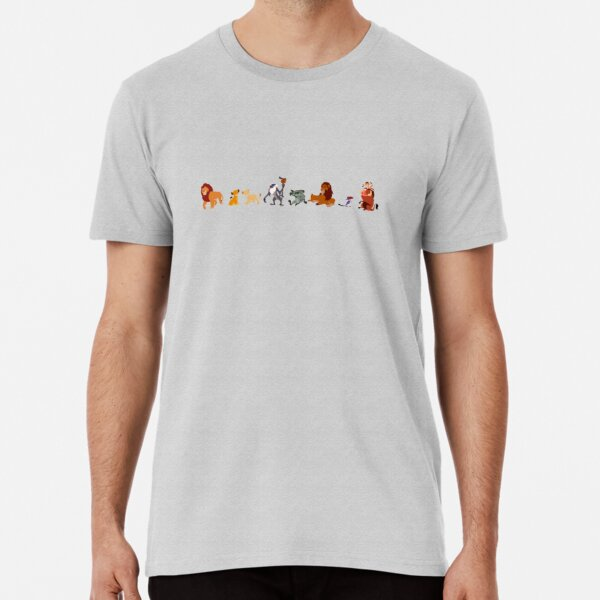 Der König der Löwen Charakter Illustration Premium T-Shirt