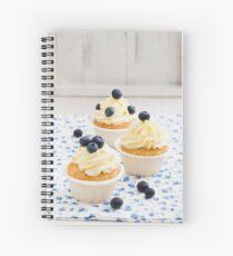 Blueberry cupcakes Spiral Notebook
