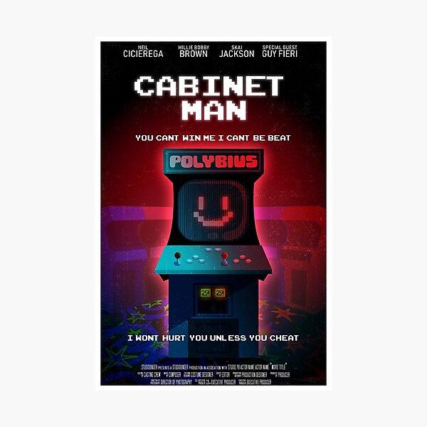 Cabinet Man Photographic Print