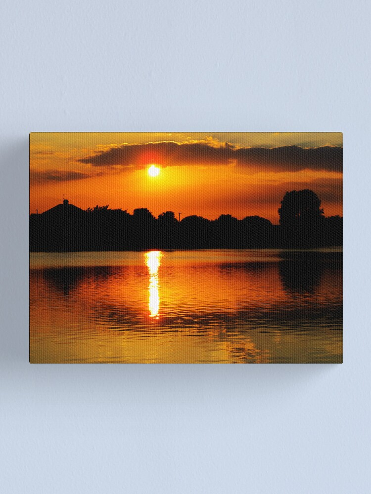 Alternate view of Golden Sunset on Water Canvas Print